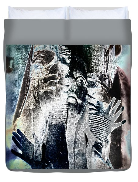 Life Shrinks Or Expands In Proportion To The Courage  Duvet Cover