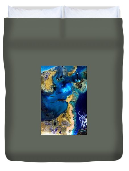 Duvet Cover featuring the photograph Life Stream by Richard Ricci