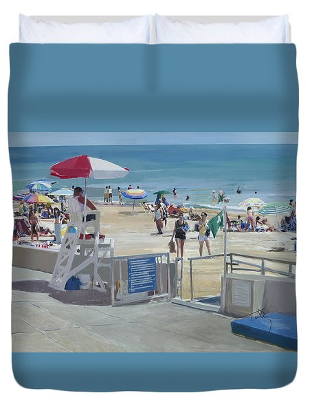 Lifeguard On Duty Duvet Cover