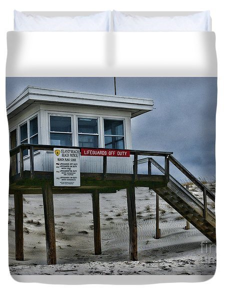 Lifeguard Station 1 Duvet Cover by Paul Ward