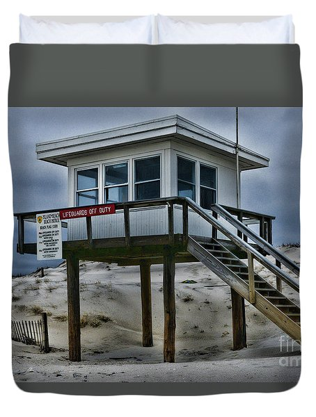 Lifeguard Station 2  Duvet Cover by Paul Ward