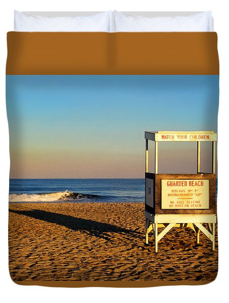 Lifeguard Stand At Ocean City Nj Duvet Cover
