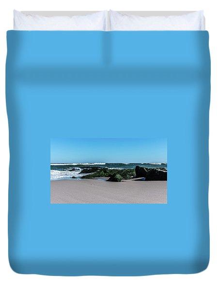 Lifes A Beach Duvet Cover