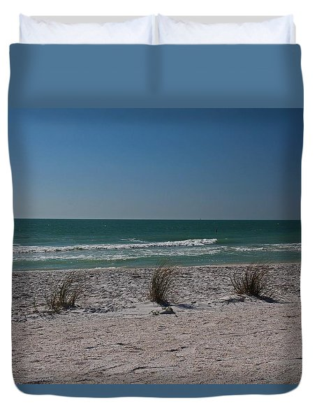 Duvet Cover featuring the photograph Life's A Beach by Michiale Schneider