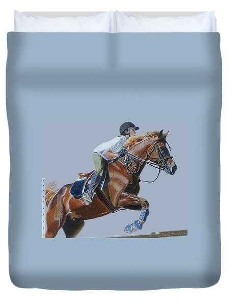 Horse Jumper Duvet Cover