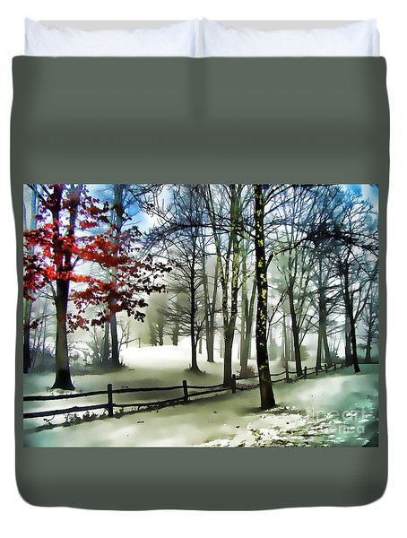 Lifting Fog Duvet Cover