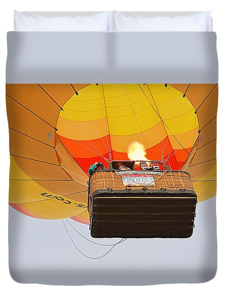 Duvet Cover featuring the photograph Liftoff by AJ Schibig