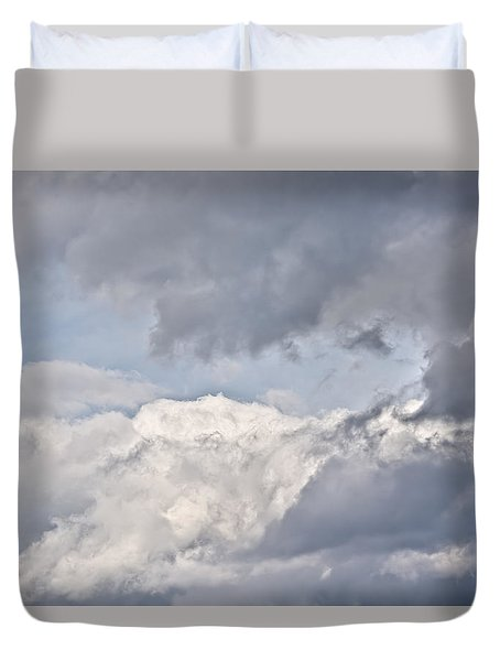 Duvet Cover featuring the photograph Light And Heavy by Wanda Krack