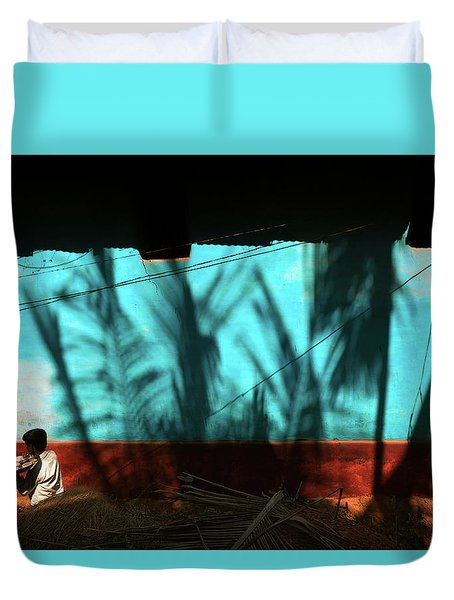 Light And Shadows Duvet Cover by Marji Lang