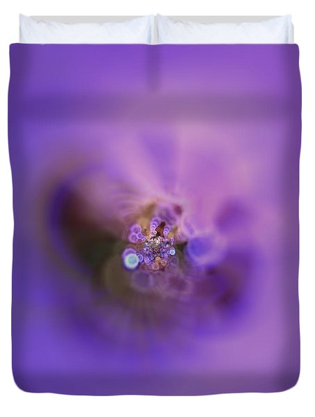 Duvet Cover featuring the digital art Light And Sound Abstract by Robert Thalmeier
