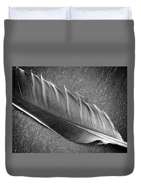 Duvet Cover featuring the photograph Light As A Feather by Karen Stahlros