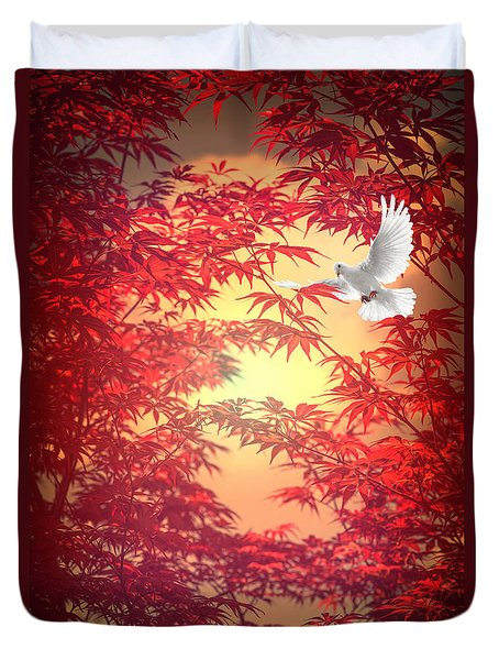 Light As A Feather Duvet Cover by Philippe Sainte-Laudy