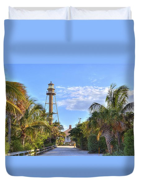 Light At The End Of The Road Duvet Cover