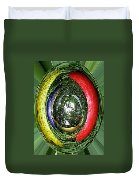 Light At The End Of Tunnel Duvet Cover