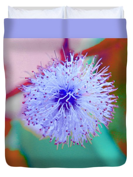 Light Blue Puff Explosion Duvet Cover by Samantha Thome