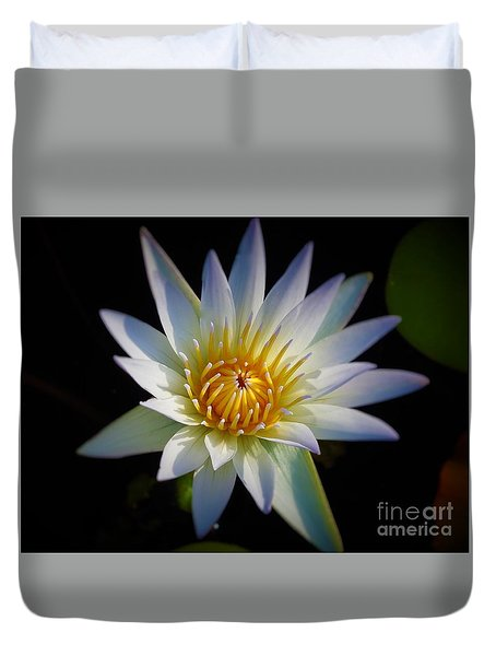 Light Blue Water Lily Duvet Cover by Chad and Stacey Hall