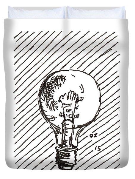 Light Bulb 1 2015 - Aceo Duvet Cover