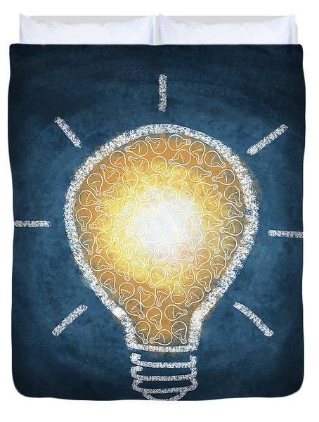 Light Bulb Design Duvet Cover