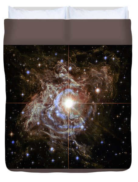 Duvet Cover featuring the photograph Light Echoes by Marco Oliveira