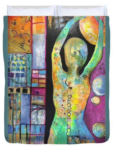 Light Energy Duvet Cover by Karin Husty