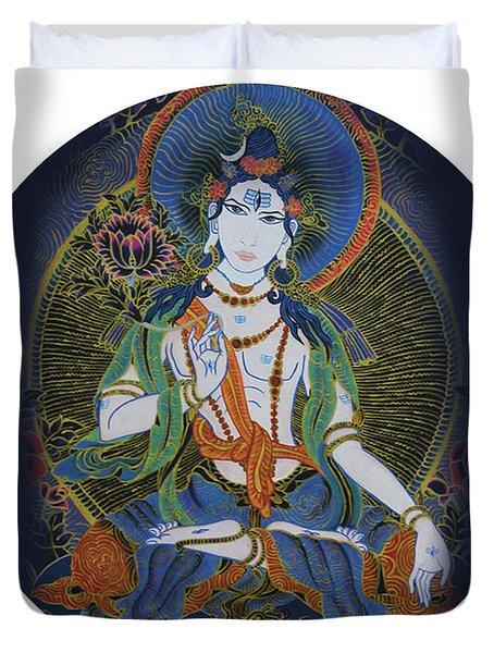 Light Giving Shiva  Duvet Cover