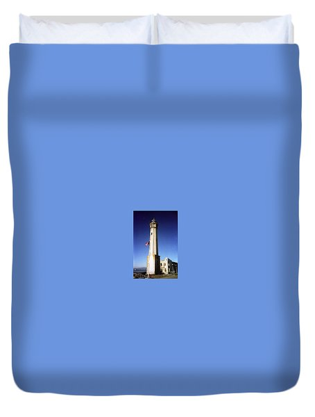 light house Alcatraz SF bay area Duvet Cover