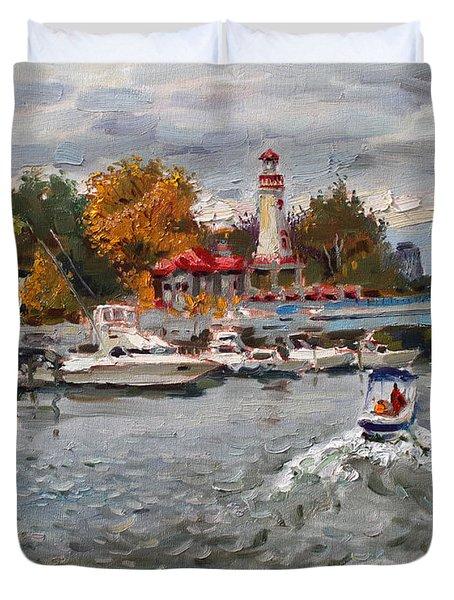 Light House Mississauga Duvet Cover