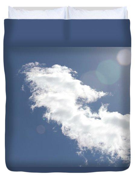 Light In Cloud Flare Duvet Cover