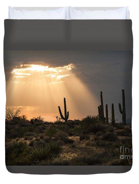 Light In The Desert Duvet Cover