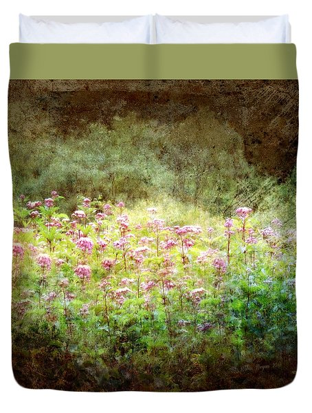 Duvet Cover featuring the photograph Light In The Forest by Robin Regan