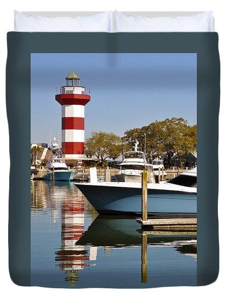 Light In The Harbor Duvet Cover