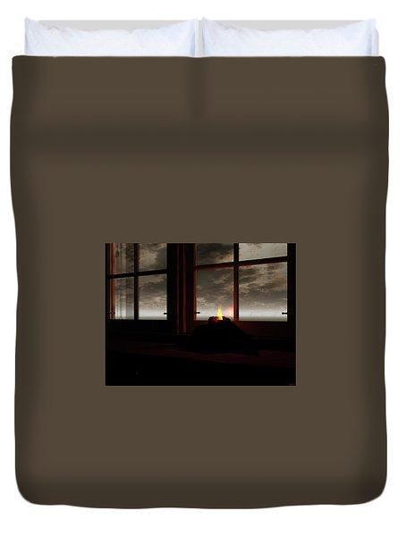 Light In The Window Duvet Cover