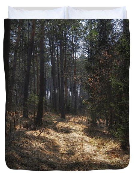 Light In The Wood Duvet Cover