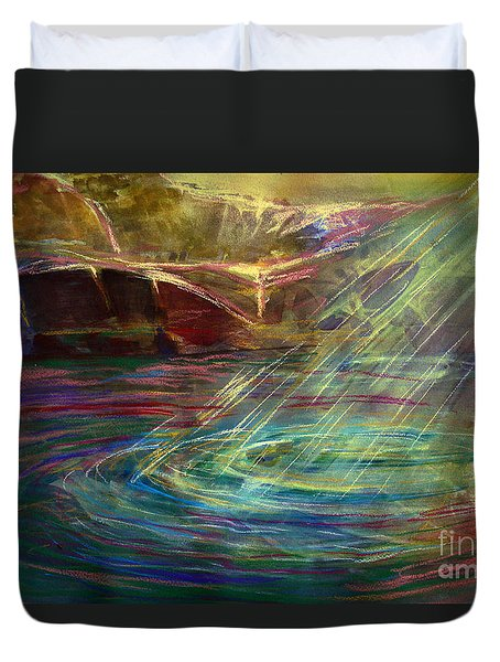 Light In Water Duvet Cover