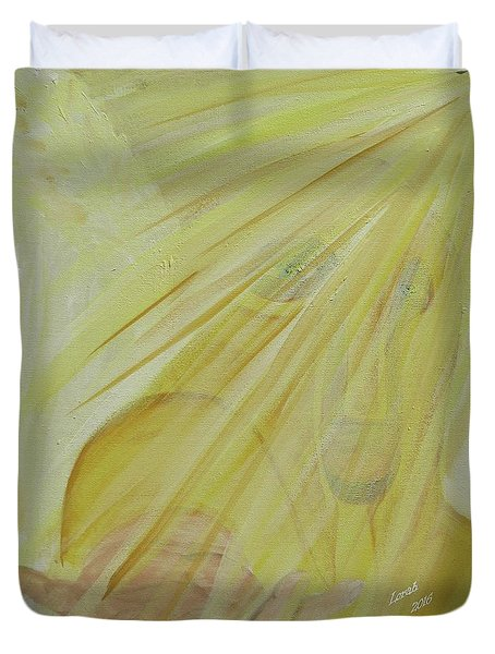 Light Of God Enfold Me Duvet Cover
