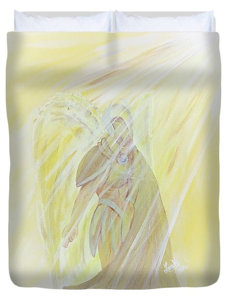 Light Of God Surround Us Duvet Cover