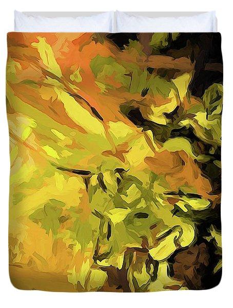 Light Of Gold Duvet Cover
