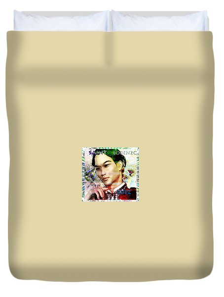 Duvet Cover featuring the painting Light Of The Phillipines by Suzanne Silvir
