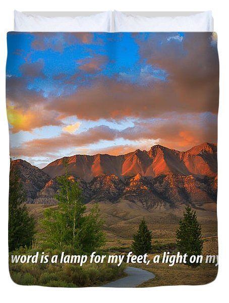 Light On My Path Duvet Cover