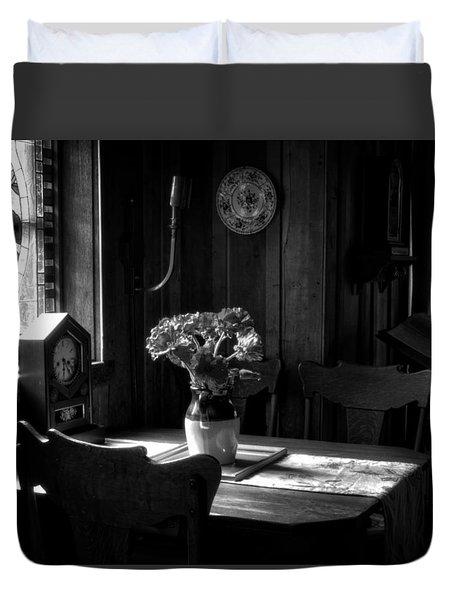 Light On Table Duvet Cover