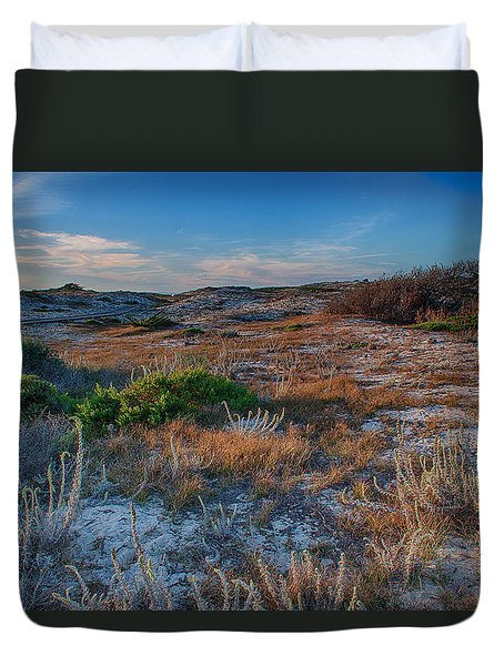 Light On The Dunes Duvet Cover by Bill Roberts