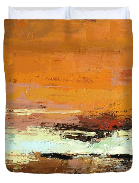 Light On The Horizon Duvet Cover