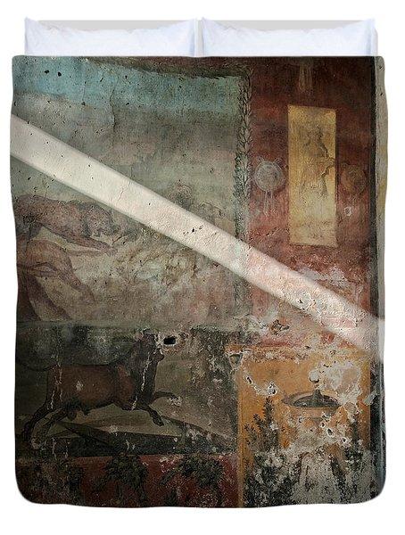 Light On The Past Duvet Cover