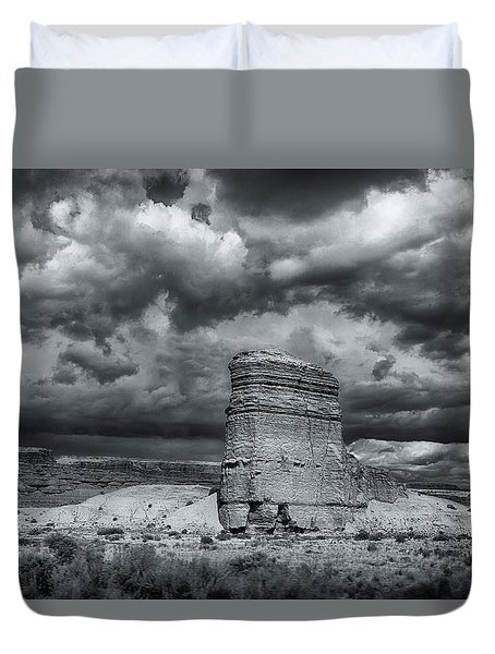 Light On The Rock Duvet Cover