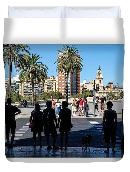 Light Or Dark. Valencia, Spain  #fuji Duvet Cover