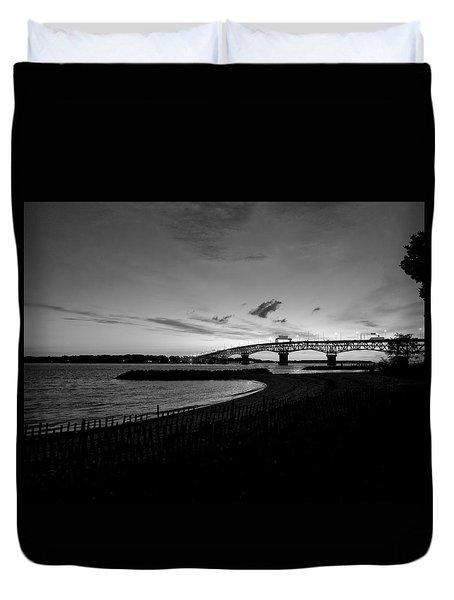 Light Over Bridge Duvet Cover
