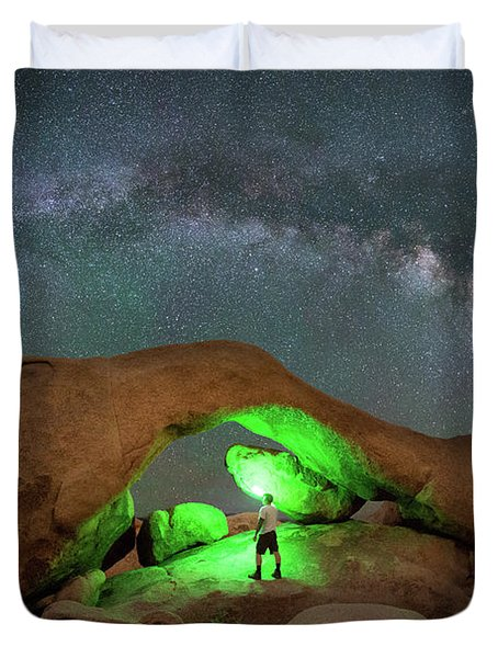 Light Painting Arch Rock Duvet Cover