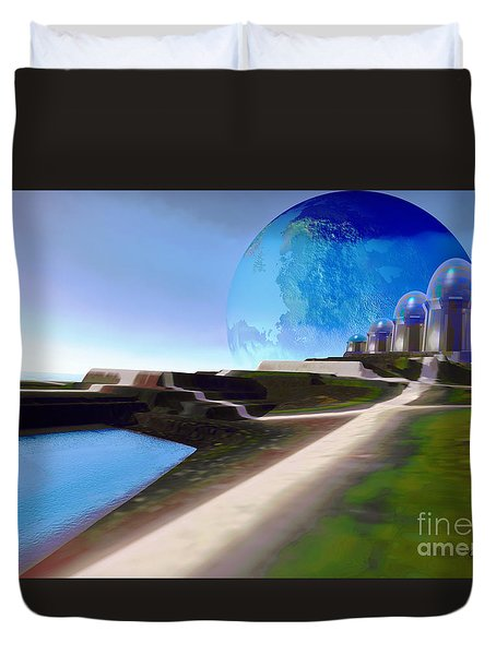 Light Path Duvet Cover by Corey Ford