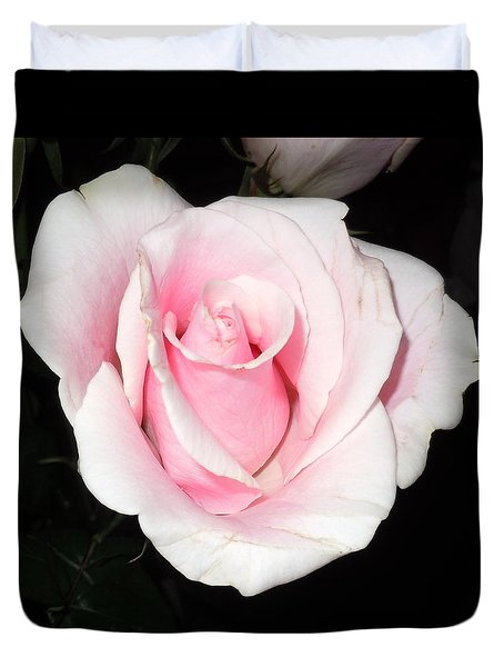 Light Pink Rose Duvet Cover