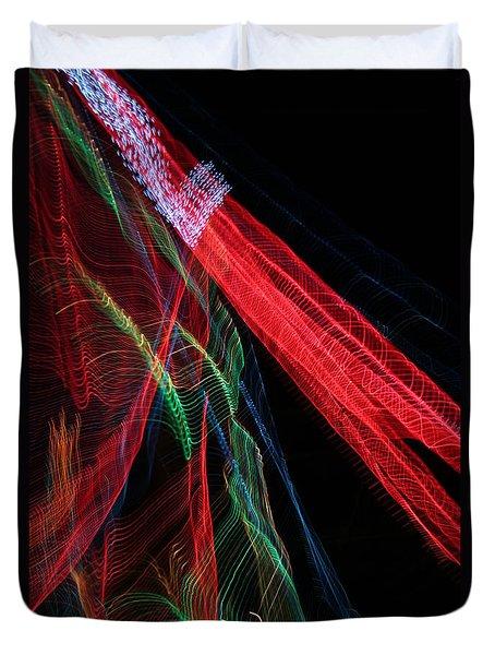Light Ribbons Duvet Cover